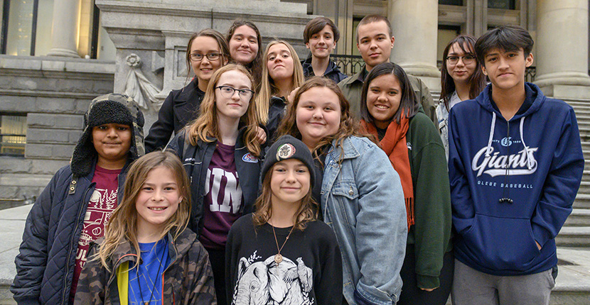 Youth plaintiffs in climate lawsuit